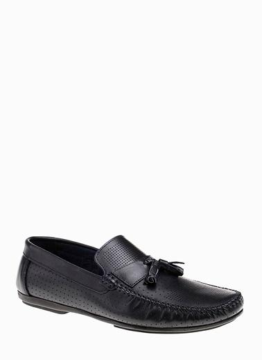 Divarese %100 Deri Loafer Ayakkabı Lacivert
